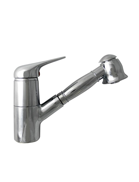 Single-lever mixer with extractable shower