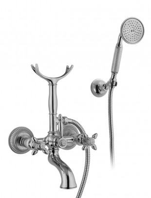 Bathtub set with duplex shower