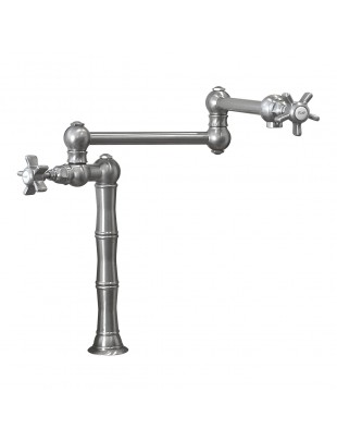 Folding kichen faucet with stop cock