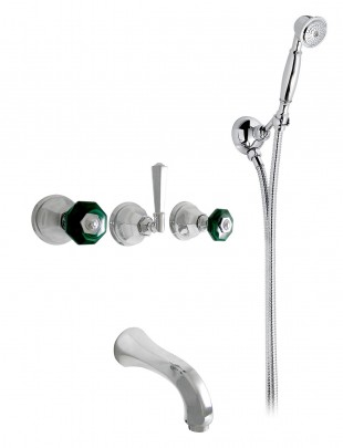 "Bathtub set with mtg.central ""sail"" spout"