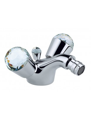 Bidet single-hole mixer with swivel spout