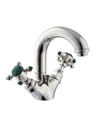 Basin single-hole mixer with swivel spout