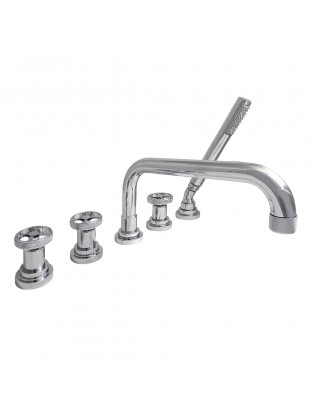 Bathtub mixer on edge type with 5 holes