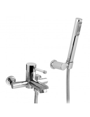Single-lever bath mixer with shower
