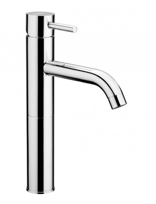 Single-lever high basin mixer