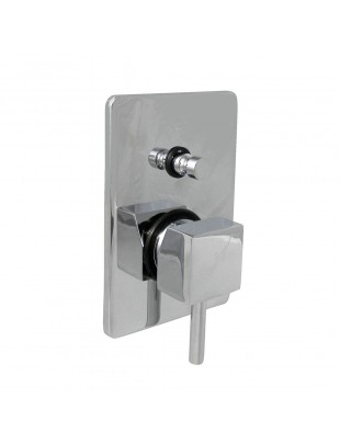 Single-lever for built-in shower with diverter