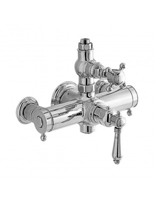 Thermostatic shower mixer, external type classic style - Half Dome